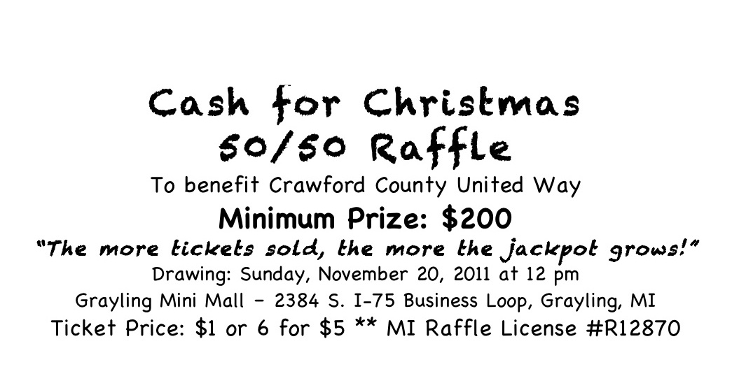 cash for christmas 50 50 raffle under way crawford county united way